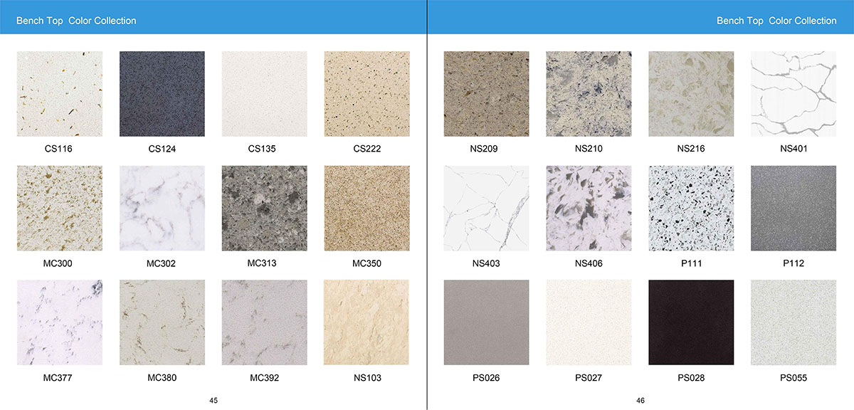 Bench Top Color Collection
